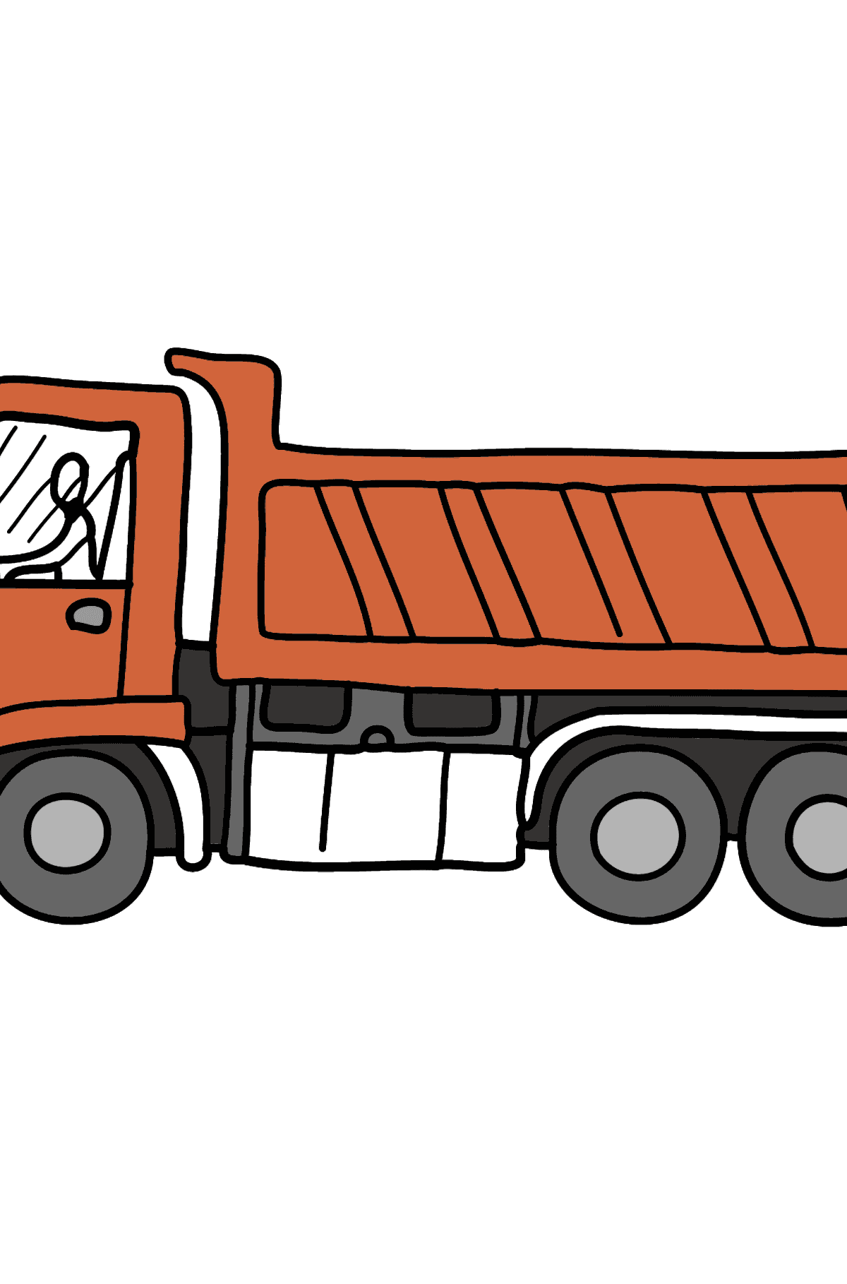 Coloring Page - A Dump Truck - Coloring Pages for Kids
