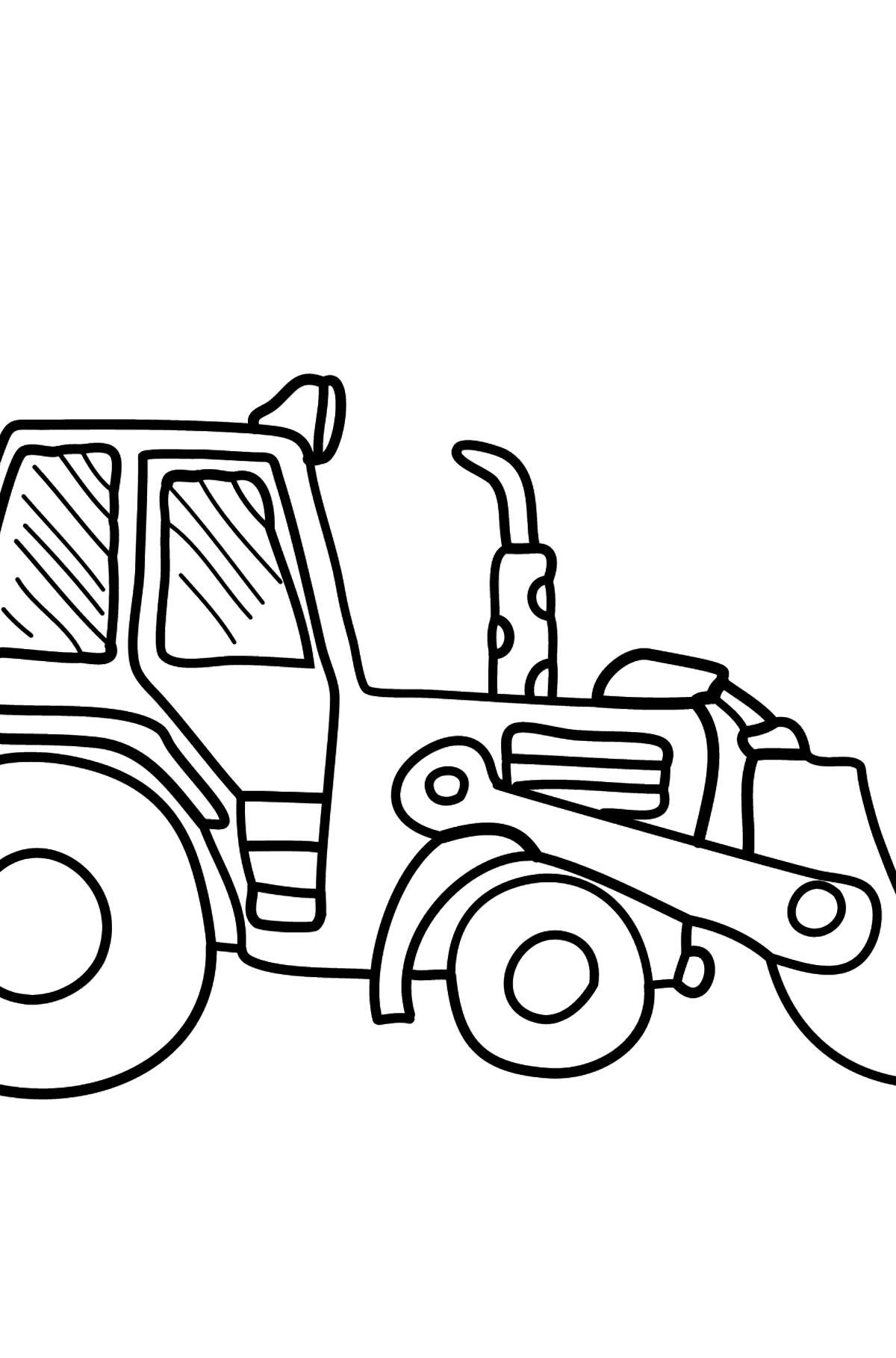 Раскраска желтый трактор - Картинки для Детей