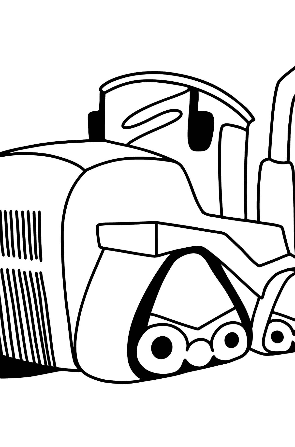 Big Heavy Tractor coloring page - Coloring Pages for Kids