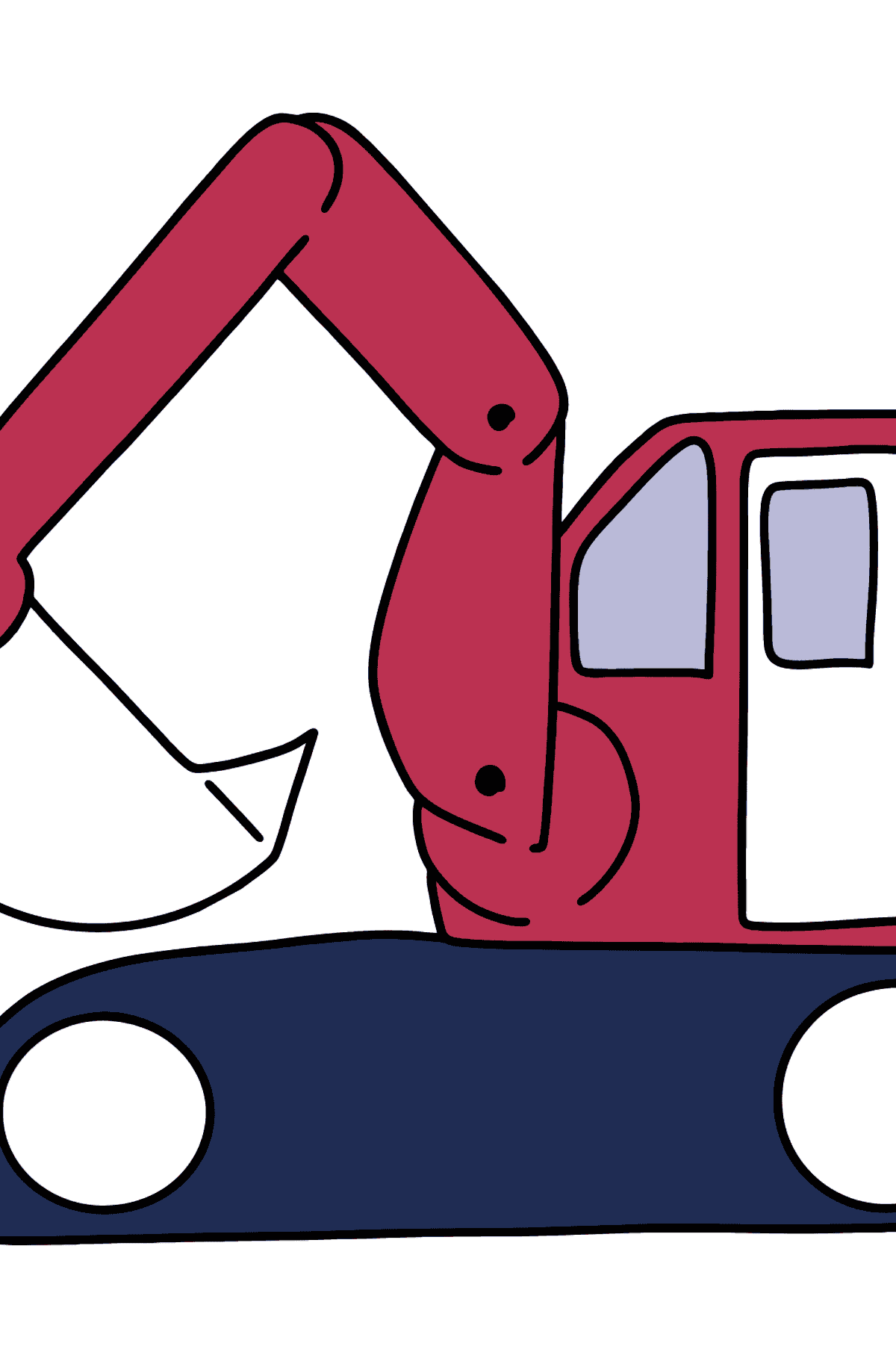 Tractor excavator coloring pages for kids - Coloring Pages for Kids