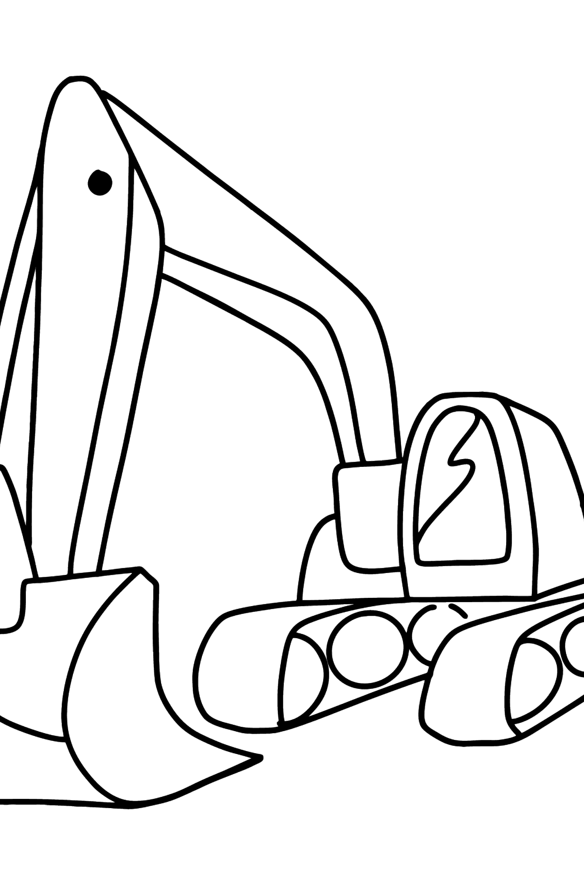 Tractor Excavator coloring page - Coloring Pages for Kids