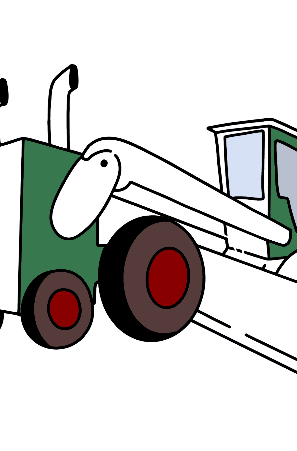 Tractor Grader coloring page - Coloring Pages for Kids