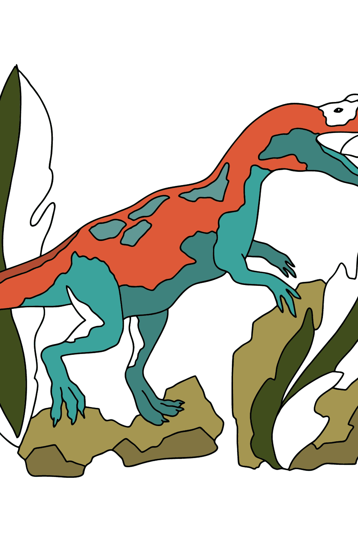 Coloring Page - Allosaurus - A Distinct Representative of Dinosaurs - Coloring Pages for Kids