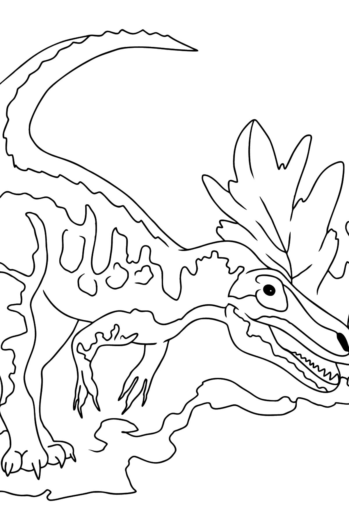 Раскраска аллозавр - сухопутный хищник из отряда динозавров - Картинки для Детей