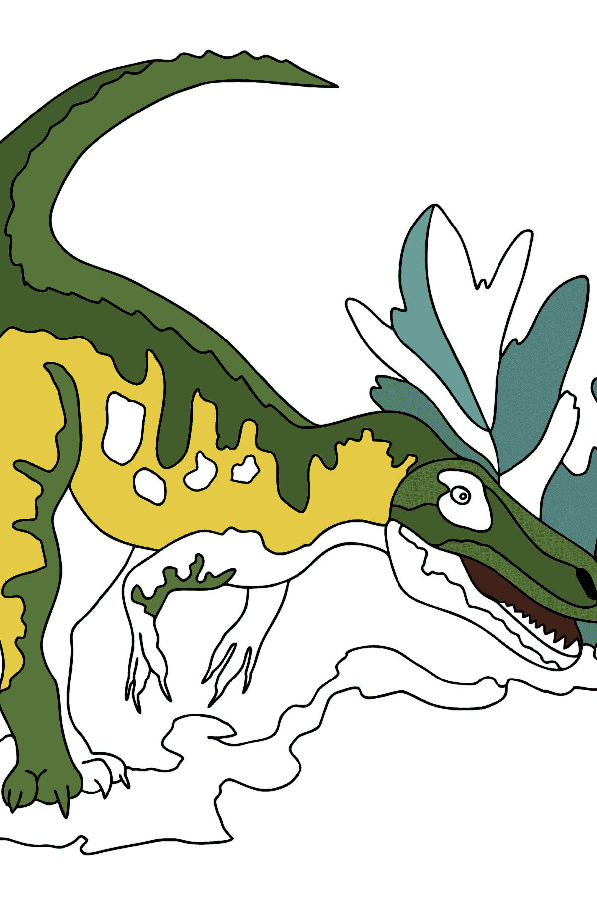 Coloring Page - Allosaurus - A Well-Researched Dinosaur - Coloring Pages for Kids