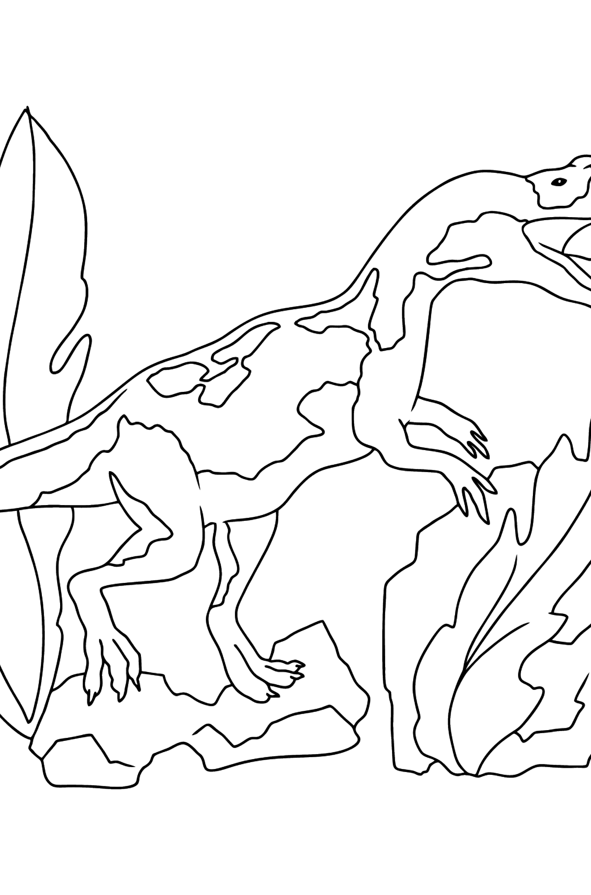 Coloring Page - Allosaurus - Jurassic Dinosaur - Coloring Pages for Kids