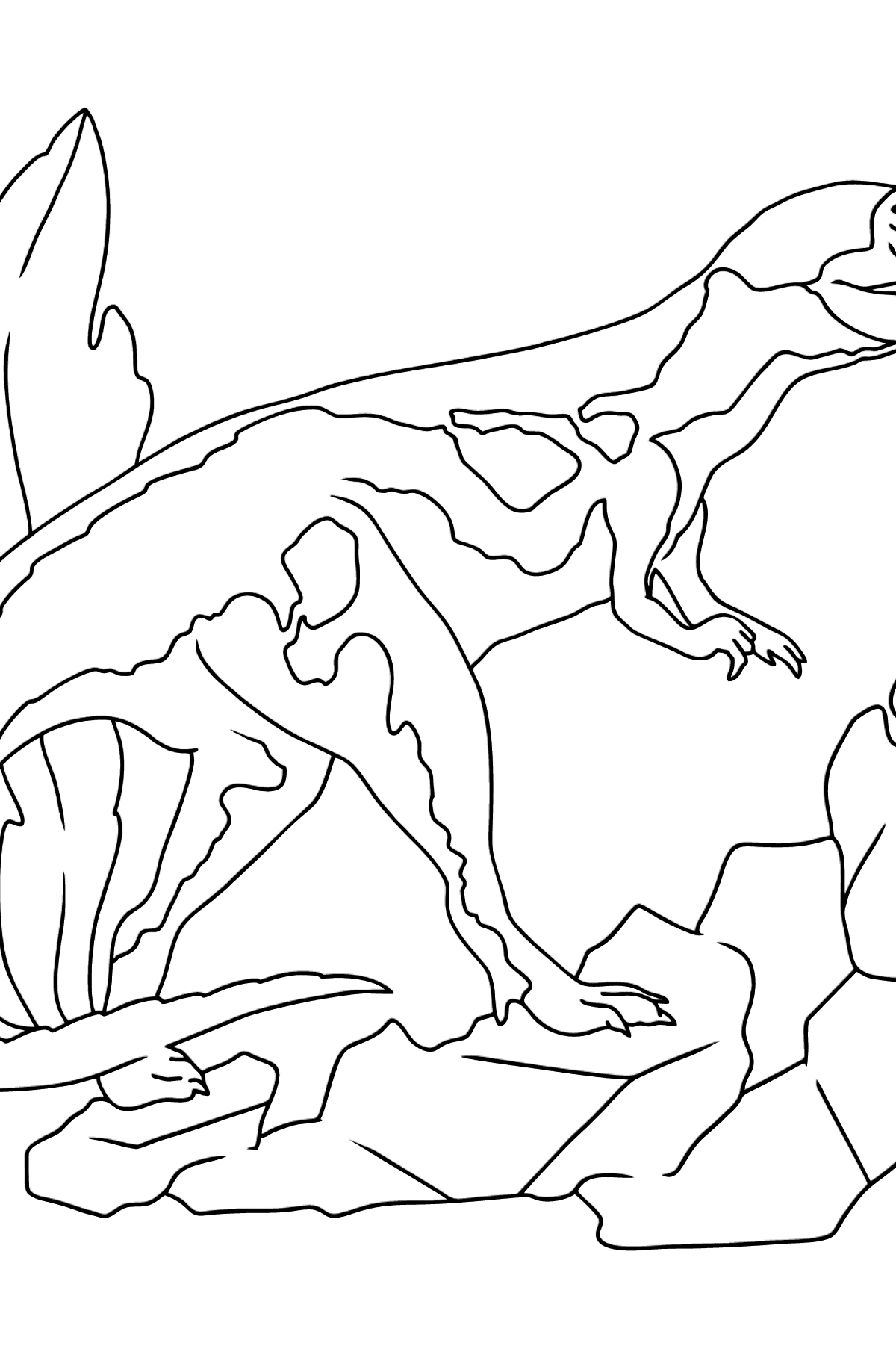 Tyrannosaurus Coloring Page - Coloring Pages for Kids