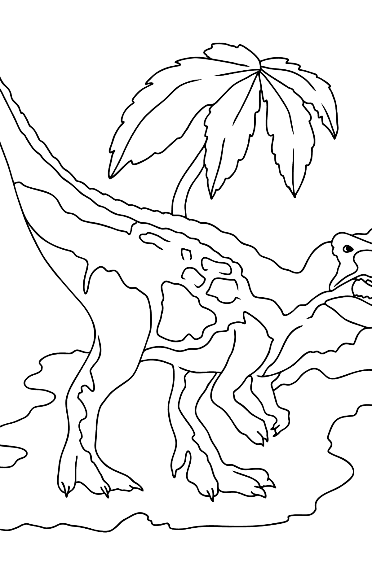 Coloring Page - Tyrannosaurus - A Terrestrial Predator - Coloring Pages for Kids