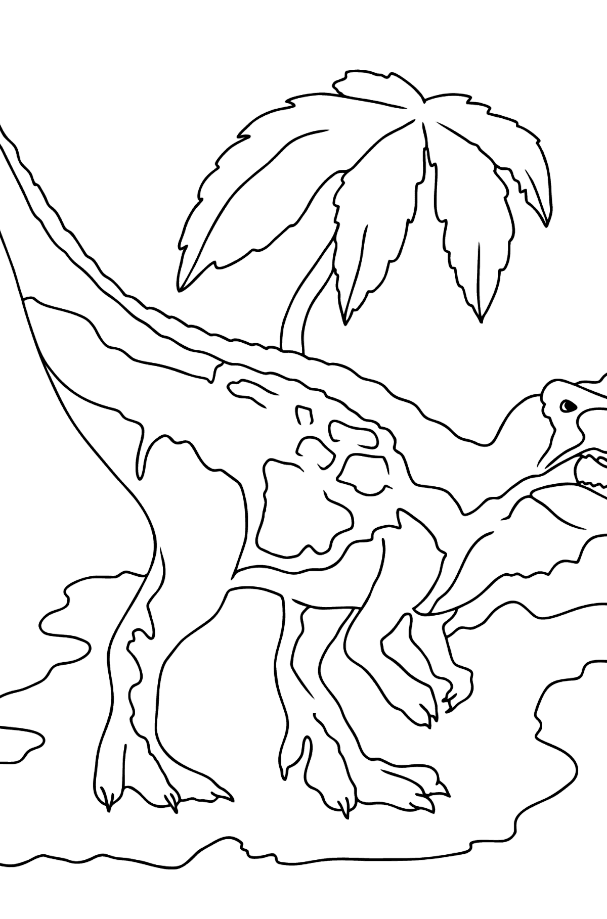 Coloring Page - Tyrannosaurus - The Best Hunter Among Dinosaurs - Coloring Pages for Kids