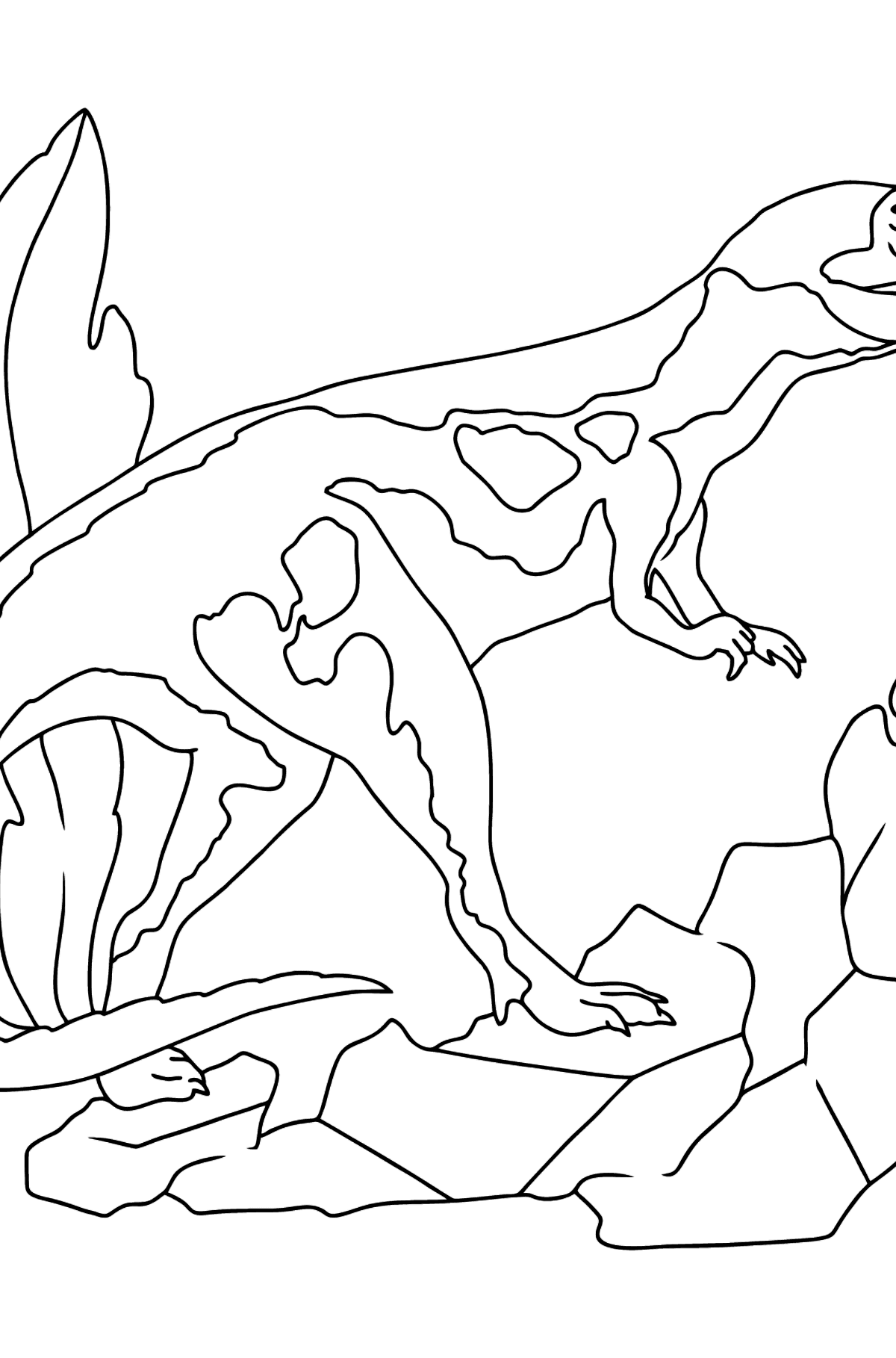 Coloring Page - Tyrannosaurus - The Cruelest Dinosaur - Coloring Pages for Kids