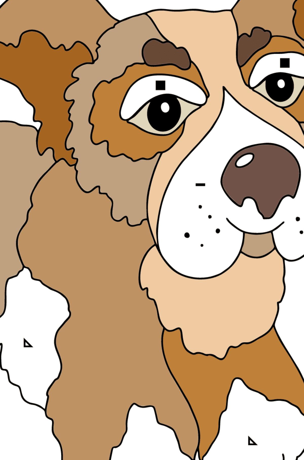 Página para Colorear - Un Perro Jugando con una Pelota