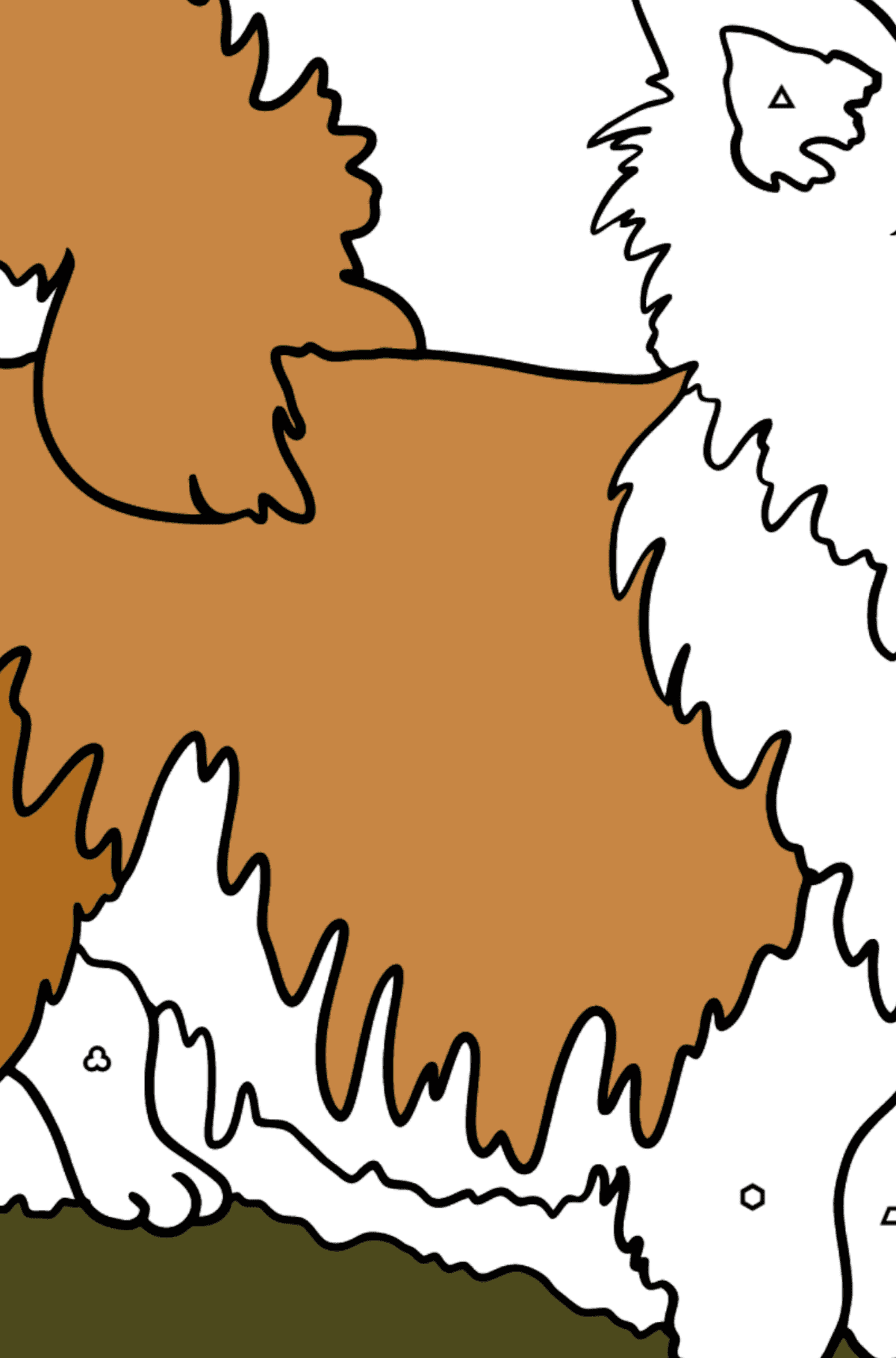 Chihuahua coloring page - Coloring by Geometric Shapes for Kids