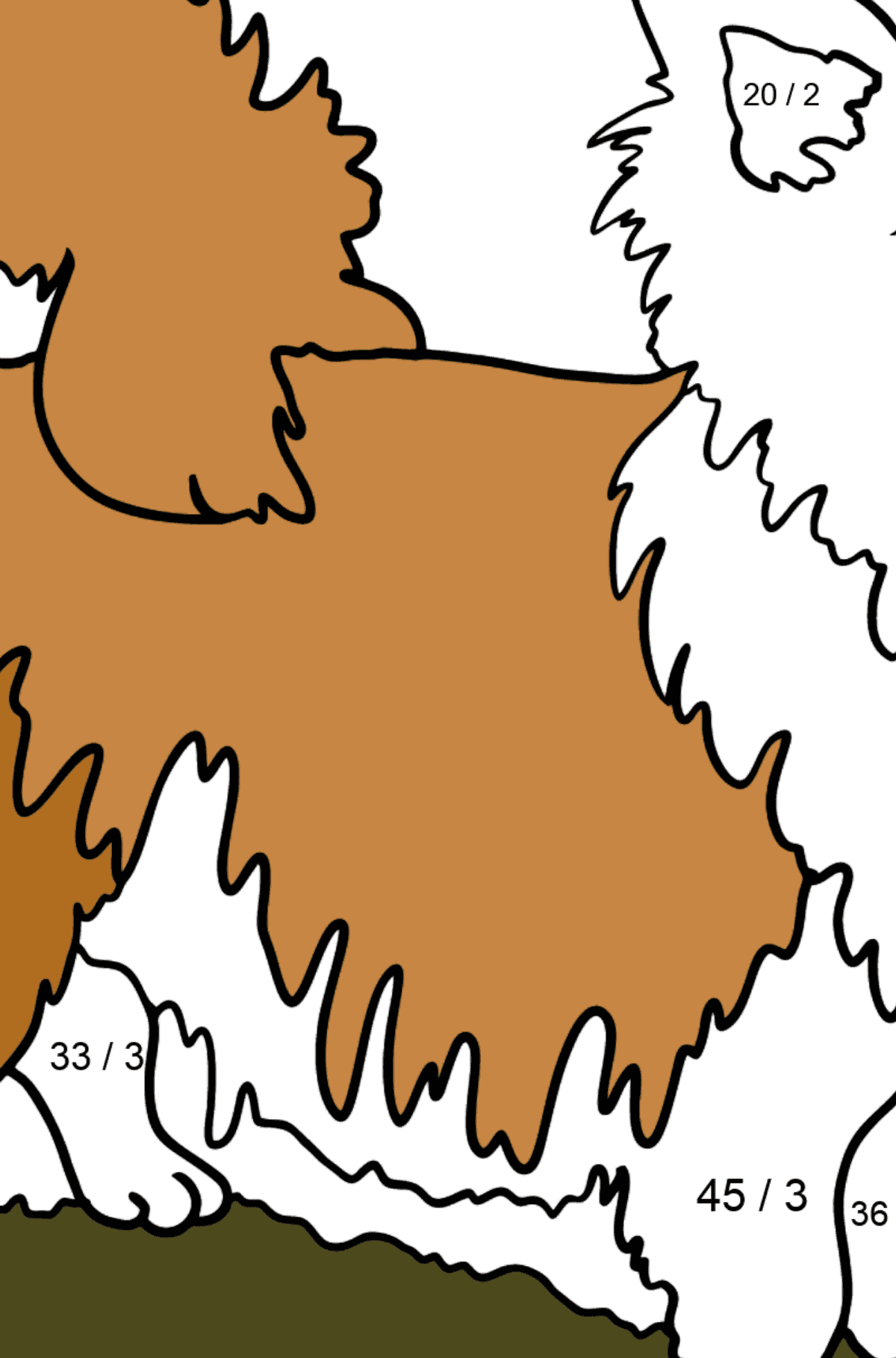 Chihuahua coloring page - Math Coloring - Division for Kids