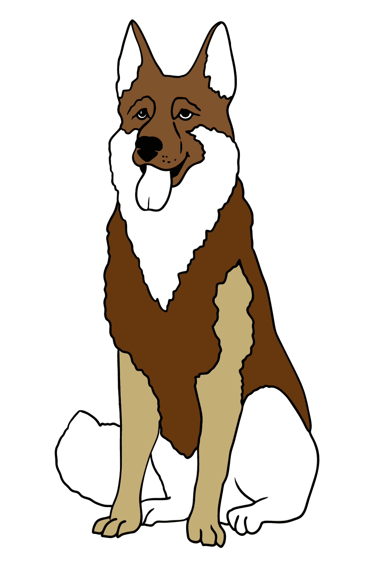 Shepherd coloring page - Coloring Pages for Kids