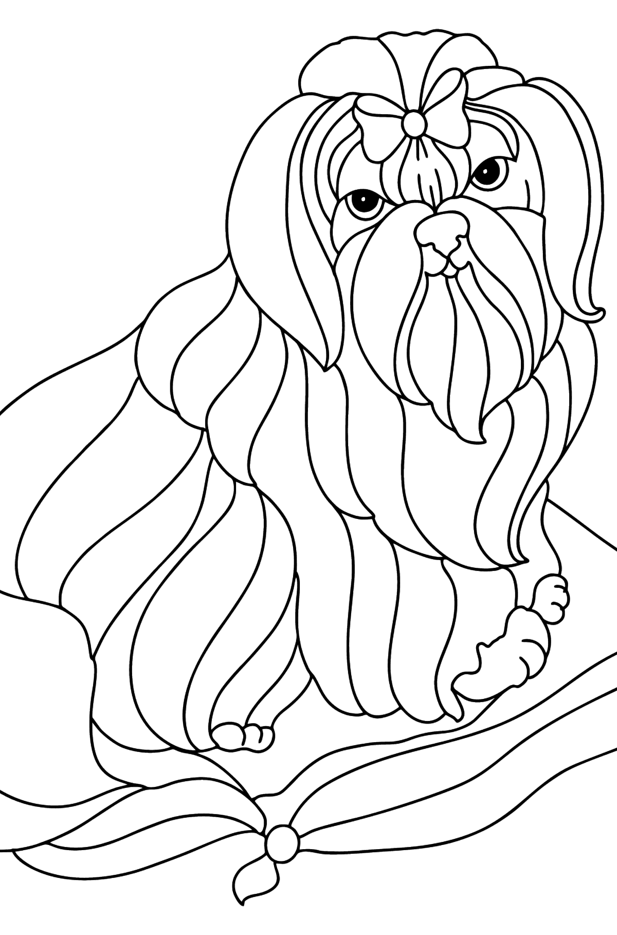 Shitsu coloring page - Coloring Pages for Kids