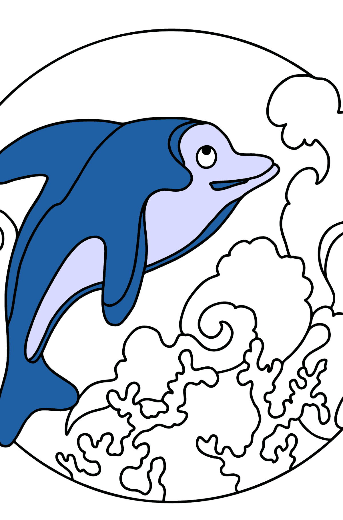 Coloring Page - A Dolphin, an Agile and Fast Predator - Coloring Pages for Kids