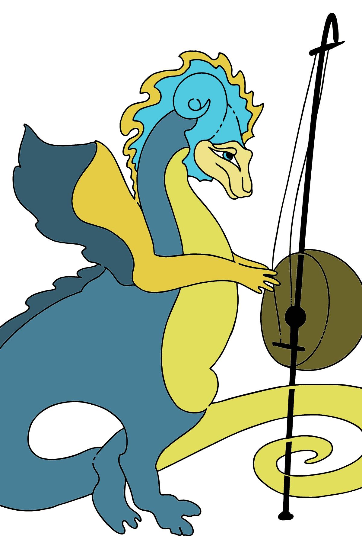 Desenhos para colorir com dragões
