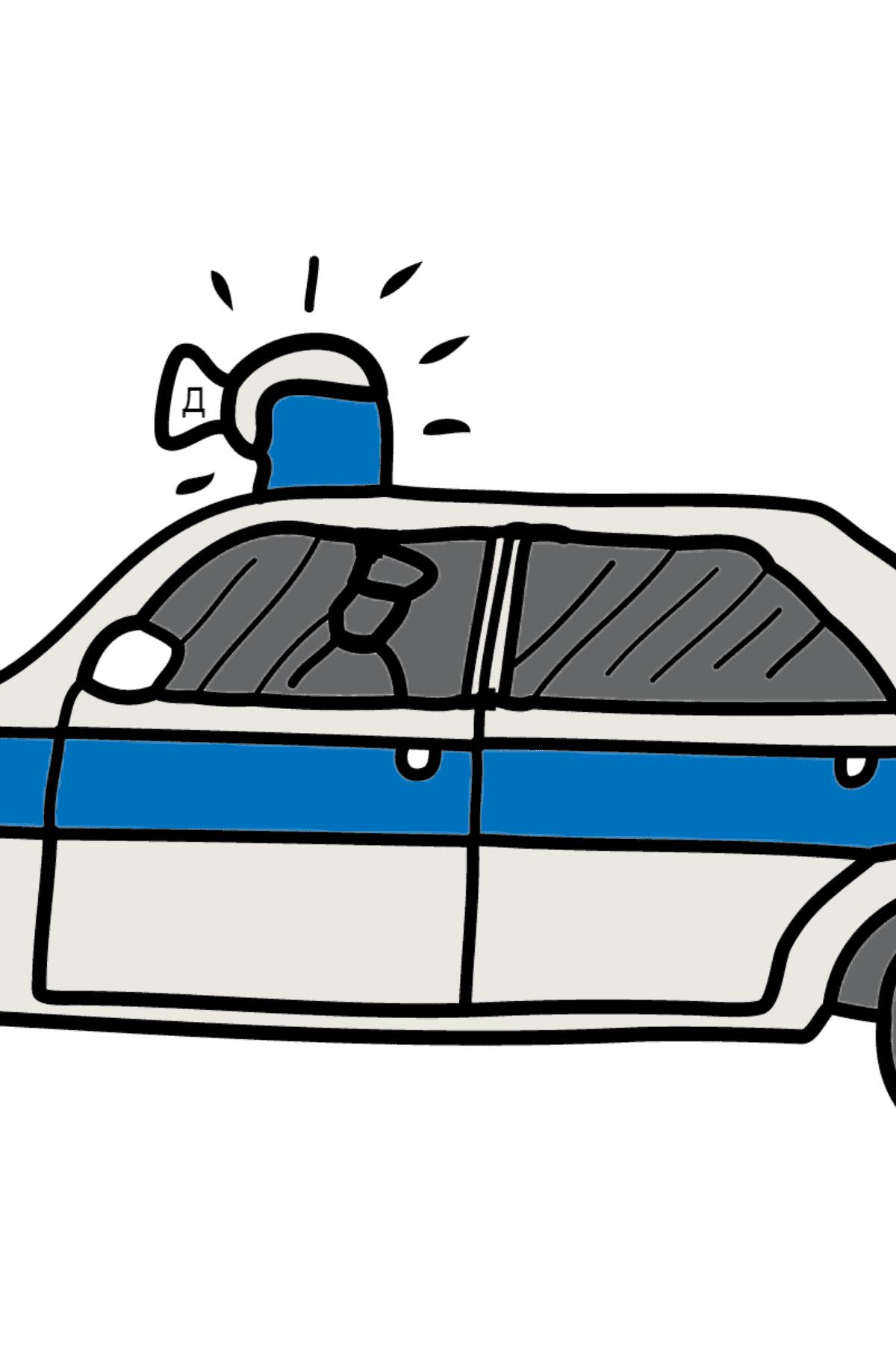 Раскраска полиция для Детей  - Раскраска по Буквам