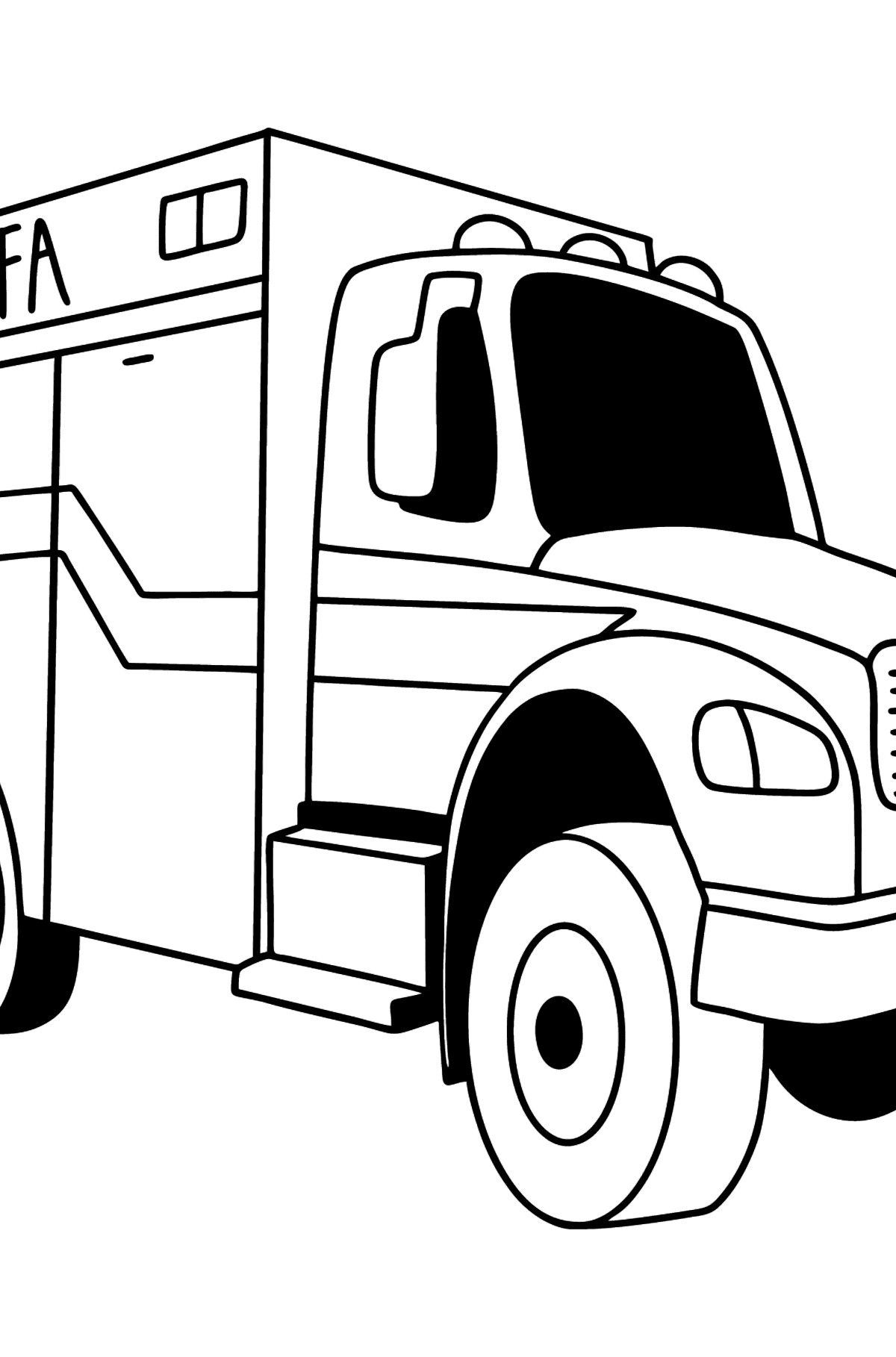 Fire Truck in Argentina coloring page - Coloring Pages for Kids