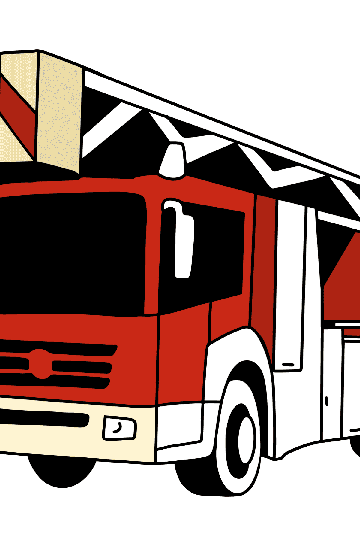 Fire Truck in Germany coloring page - Coloring Pages for Kids