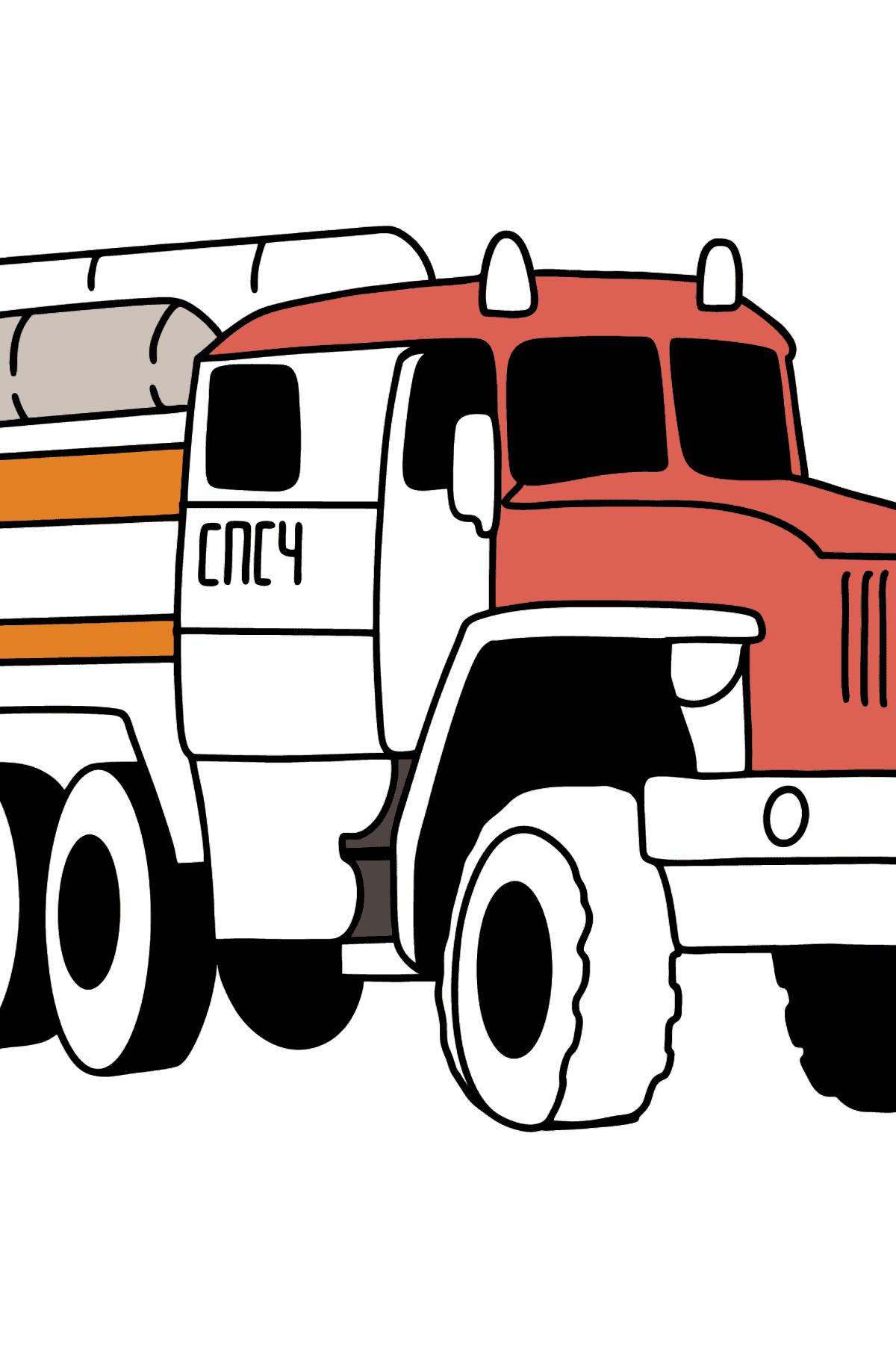 Раскраска Пожарная машина в России - Раскраски для Детей