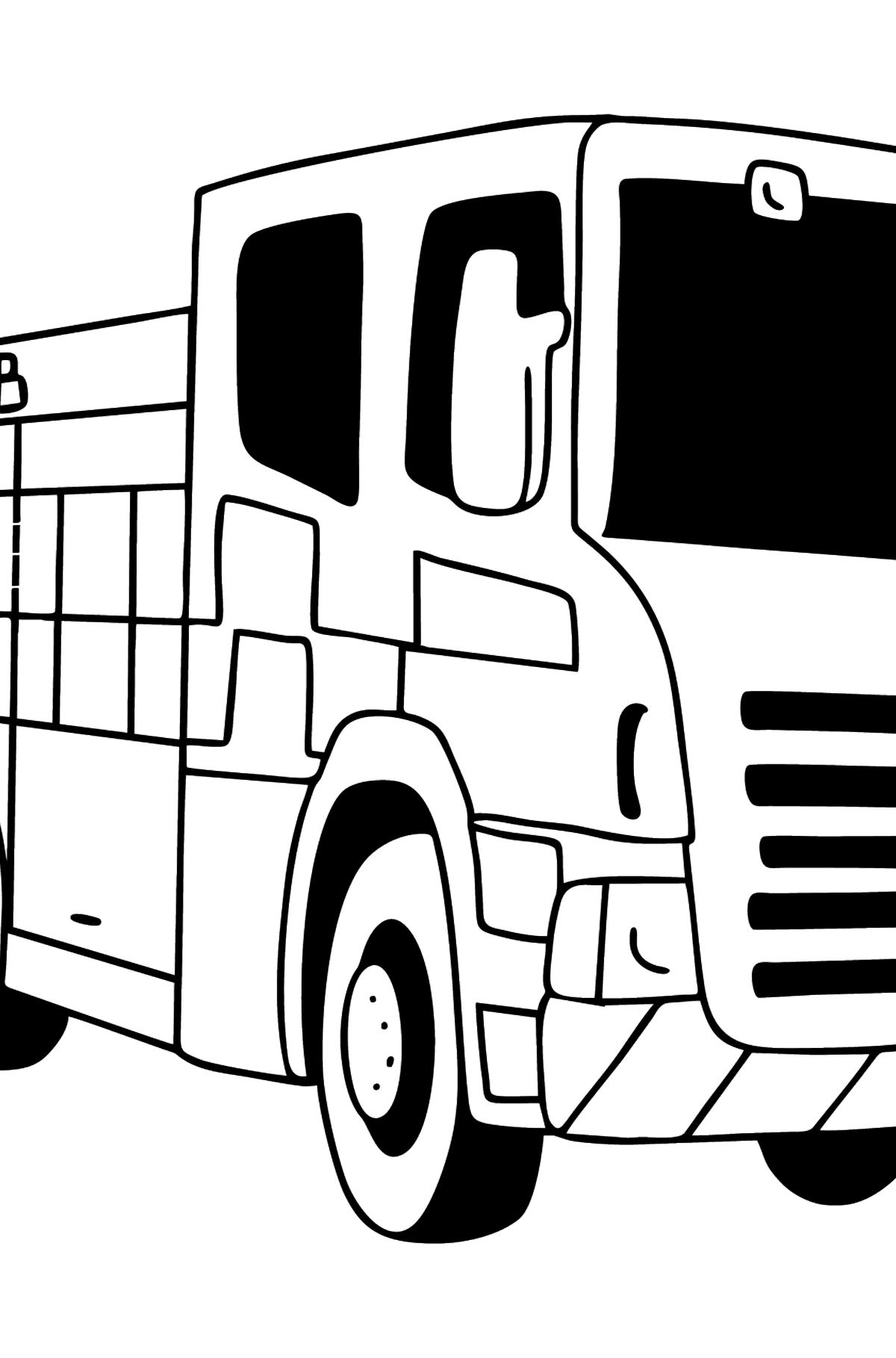 Fire Truck in Great Britain coloring page - Coloring Pages for Kids