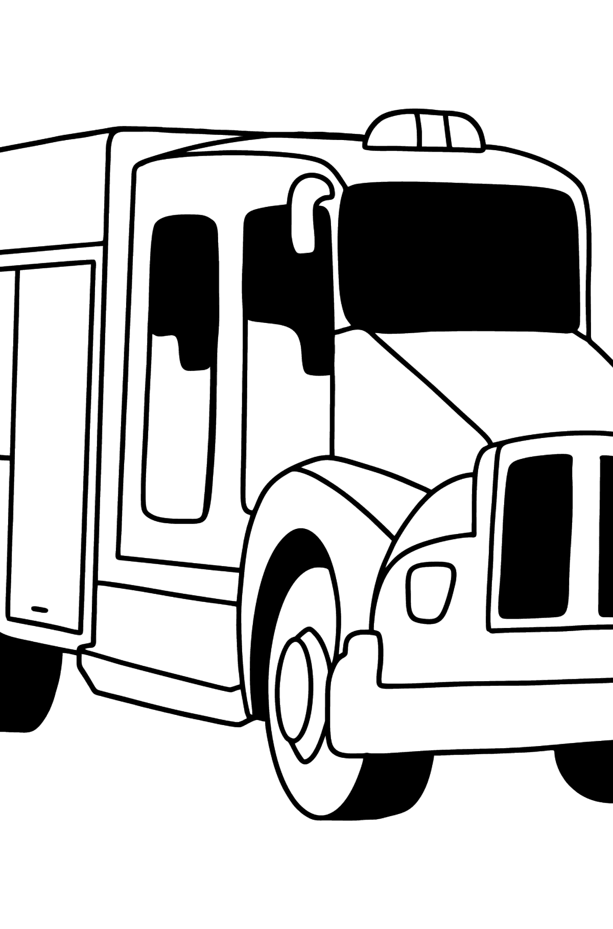 USA Fire Truck coloring page - Coloring Pages for Kids