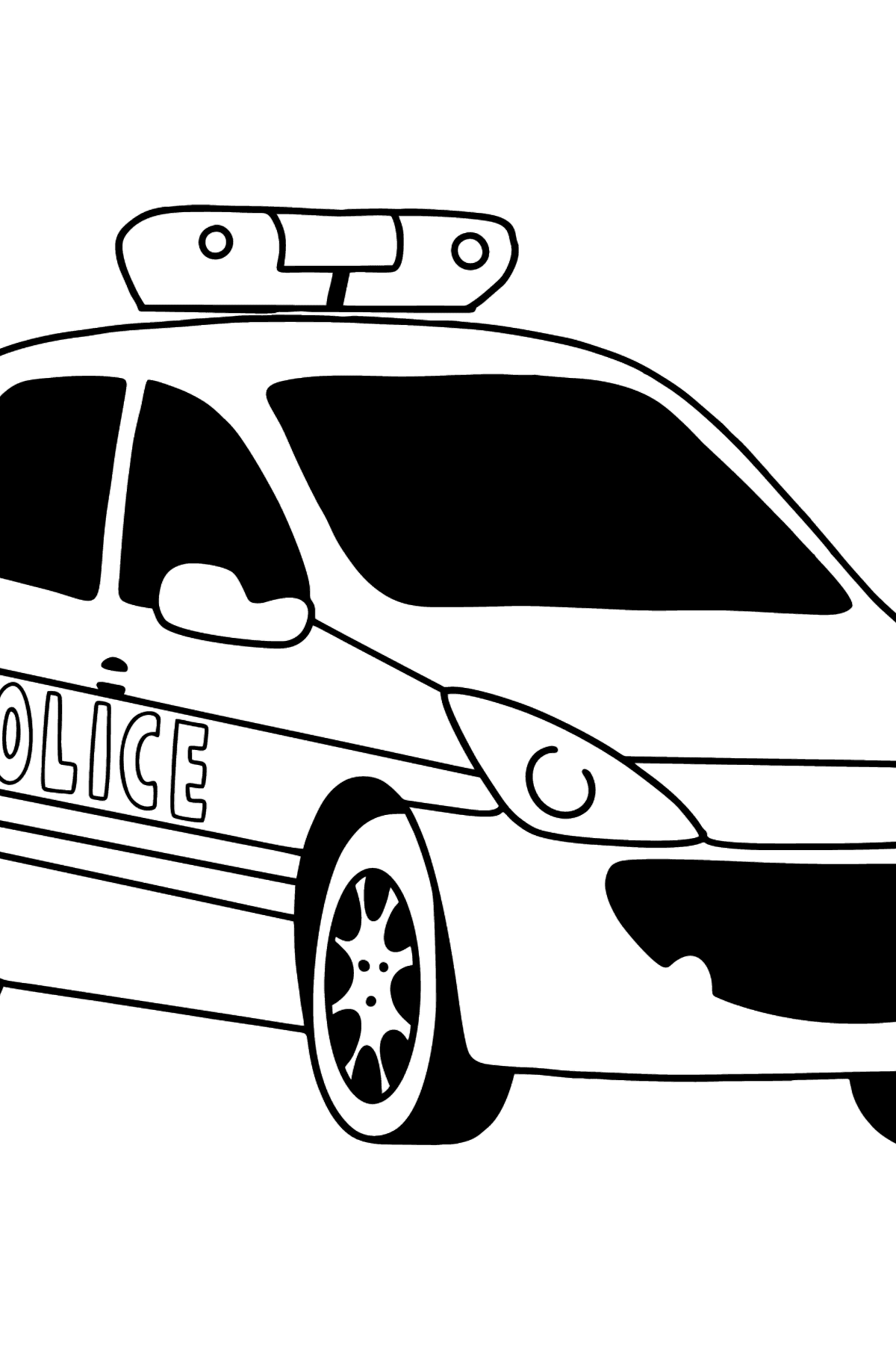 Police Car in France coloring page - Coloring Pages for Kids