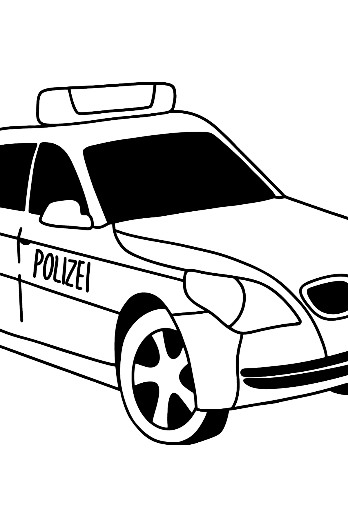 Police Car in Germany coloring page - Coloring Pages for Kids