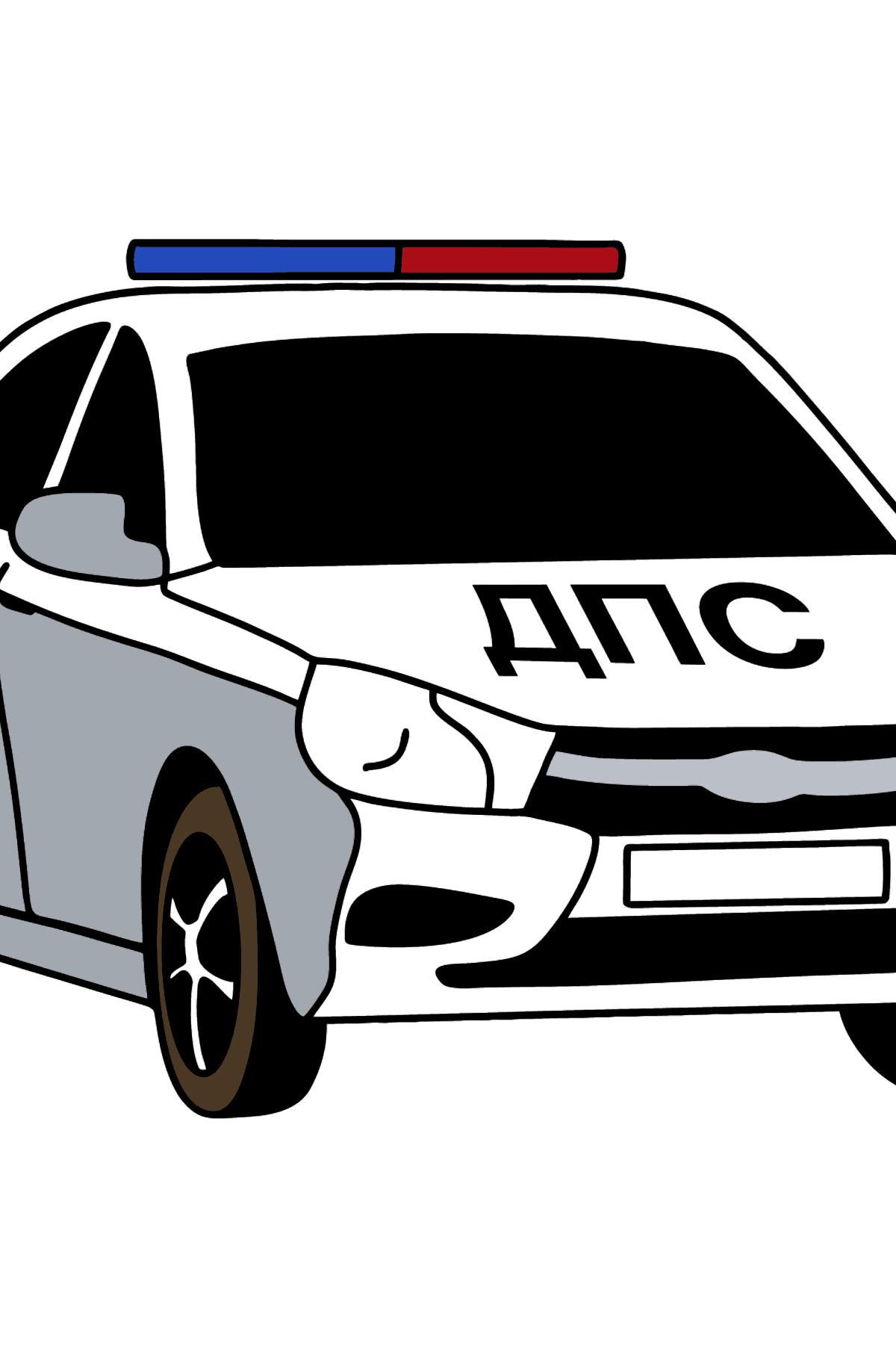 Раскраска Машина полиции в России - Раскраски для Детей