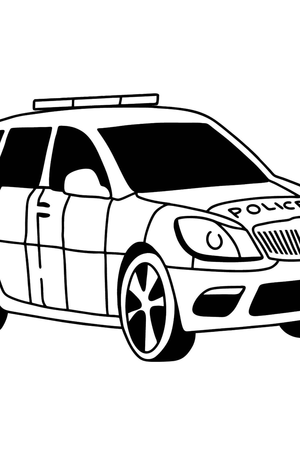 UK Police Car coloring page - Coloring Pages for Kids