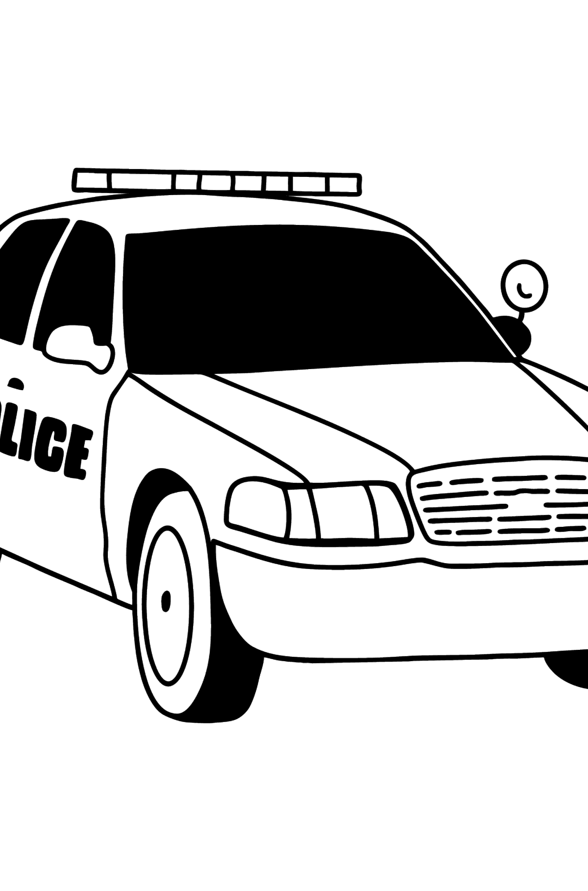US Police Car coloring page - Coloring Pages for Kids