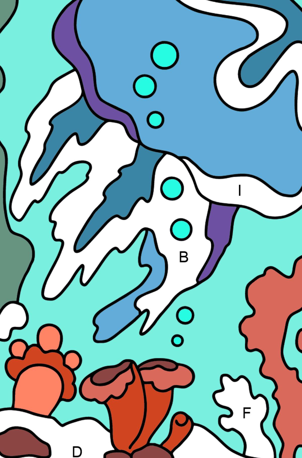 Desenhos para colorir por letras