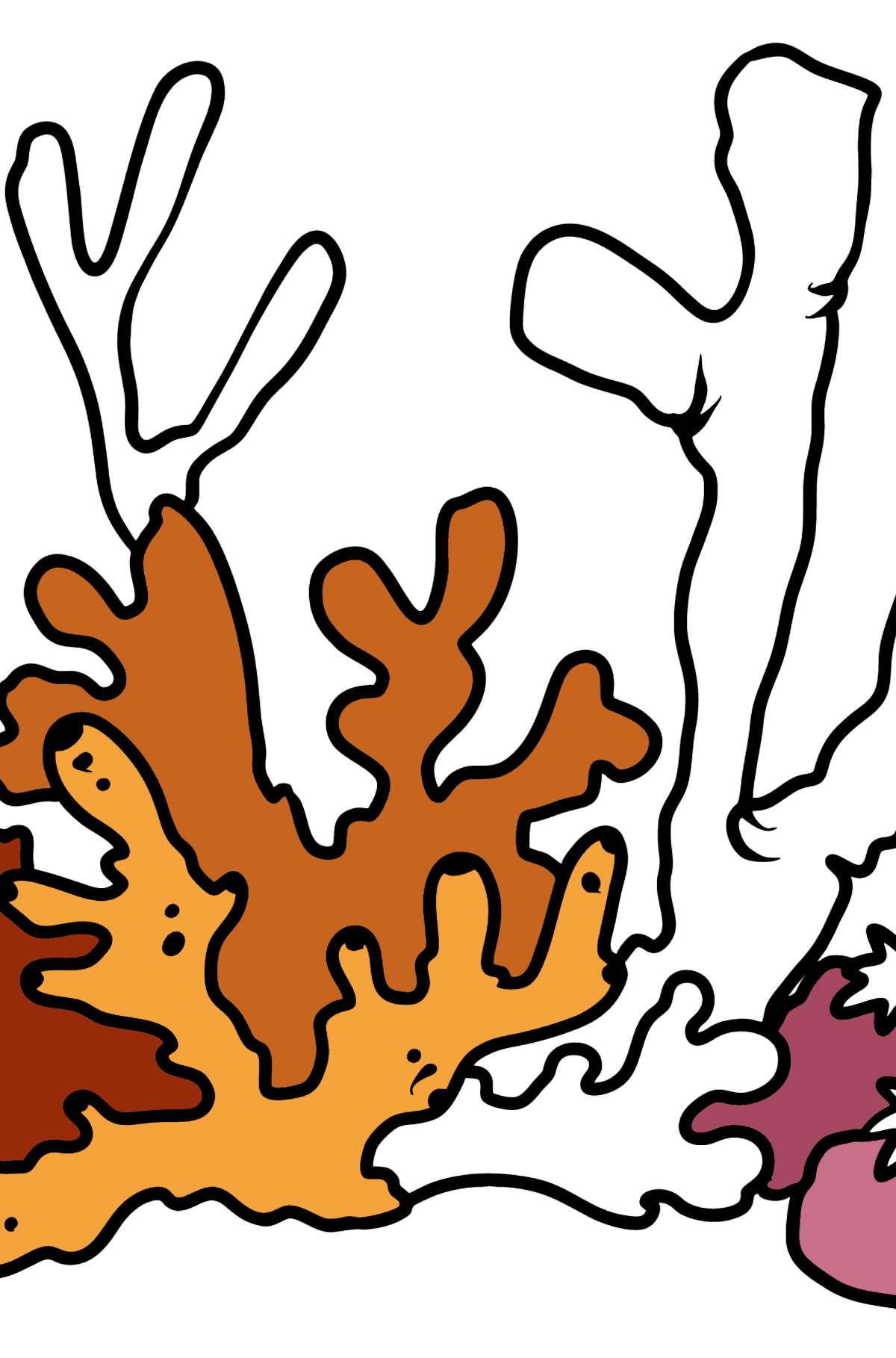 Coral coloring page - Coloring Pages for Kids