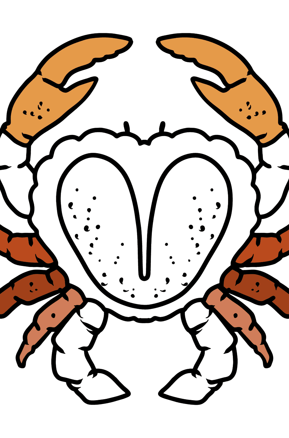 Crab coloring page - Coloring Pages for Kids
