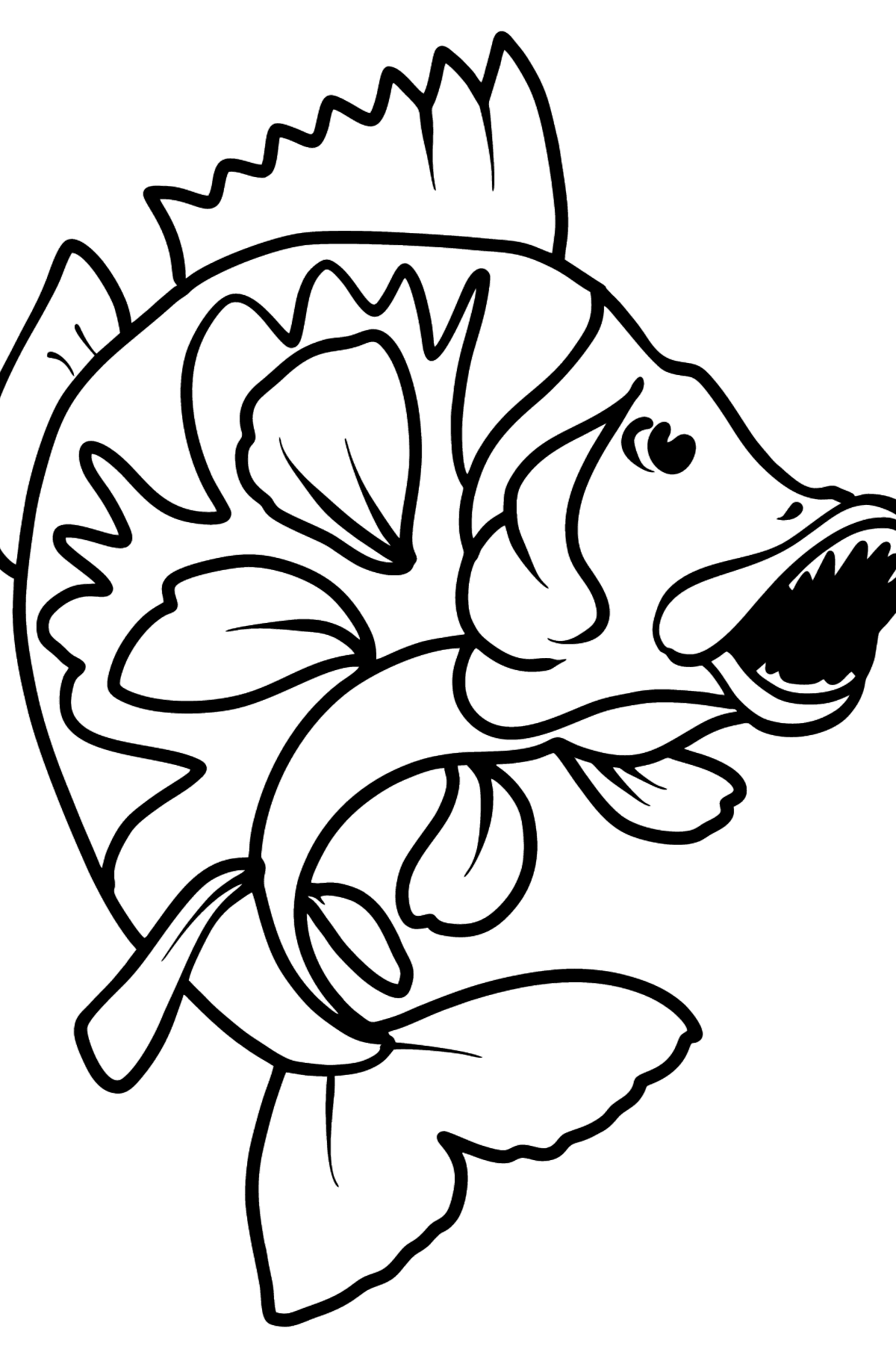 Perch coloring page - Coloring Pages for Kids