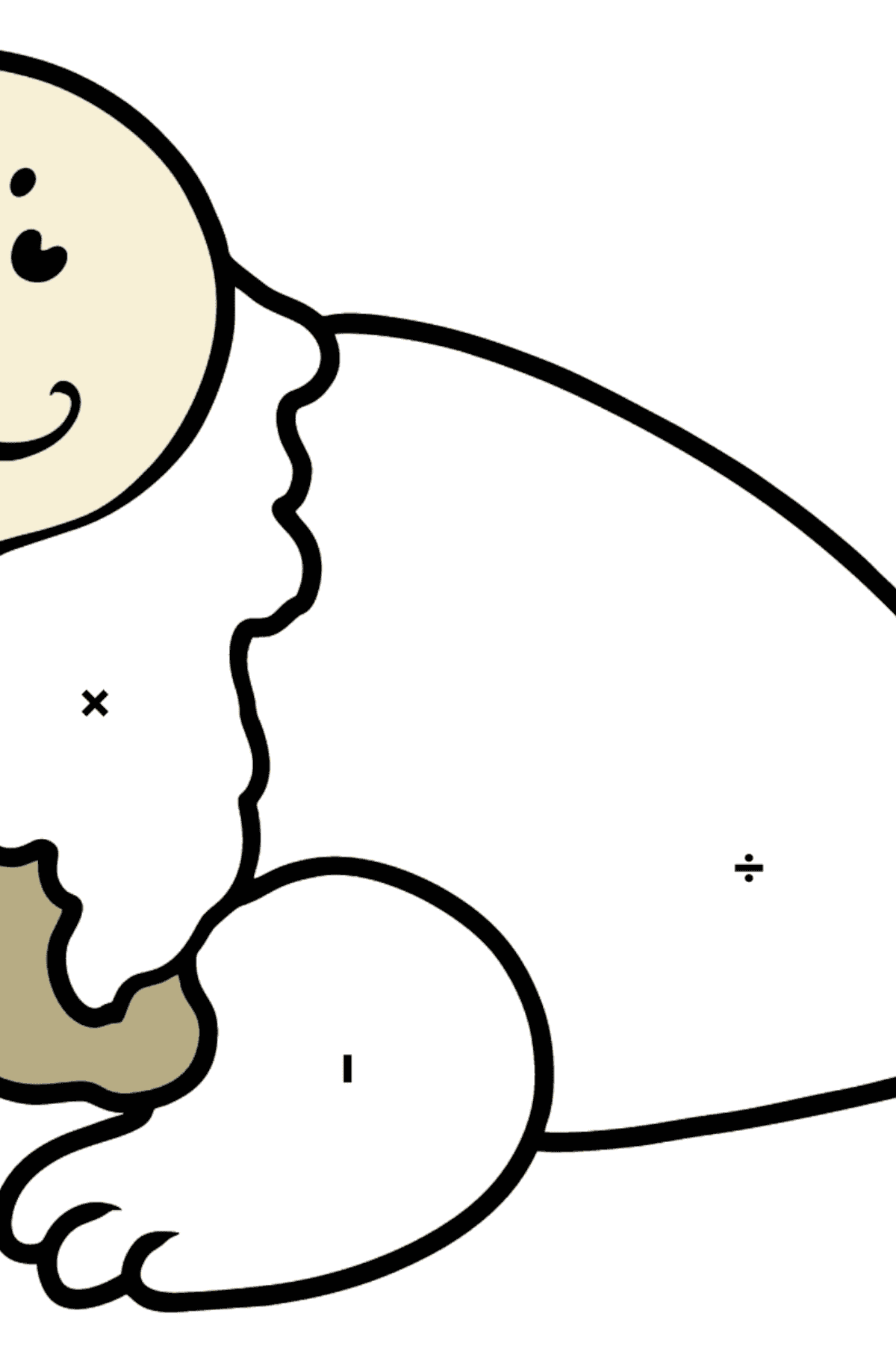 Seal coloring page - Coloring by Symbols for Kids