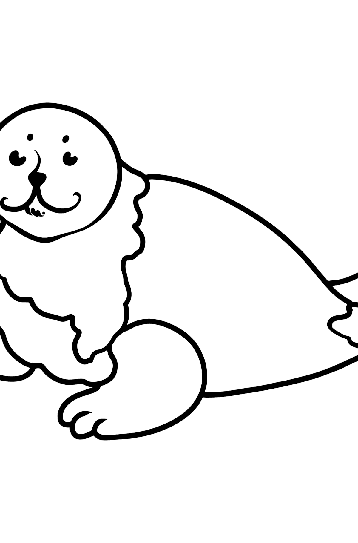 Seal coloring page - Coloring Pages for Kids