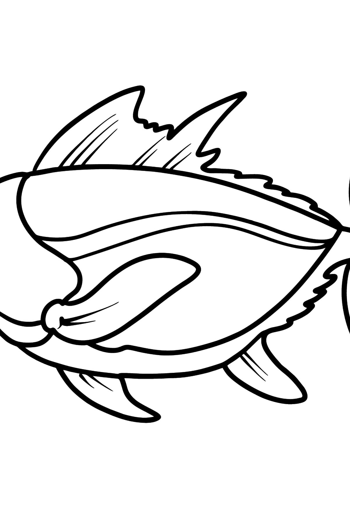 Tuna coloring page - Coloring Pages for Kids