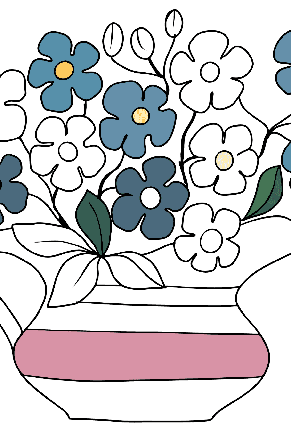 Flower Coloring Page - Forget me nots - Coloring Pages for Kids
