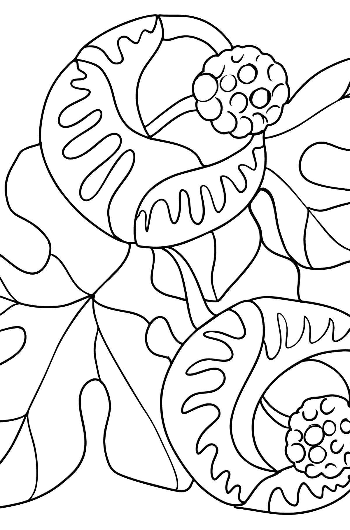 Fantastic flowers Coloring Page - Coloring Pages for Kids