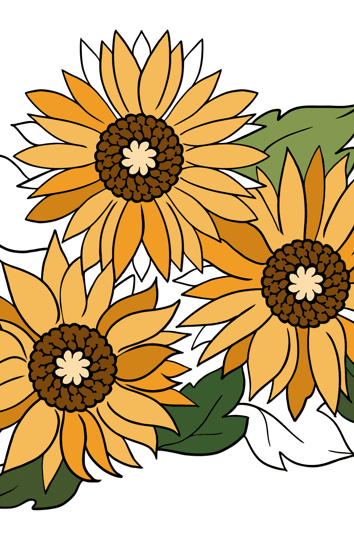 Coloring Page - Yellow Gerbera - Coloring Pages for Kids