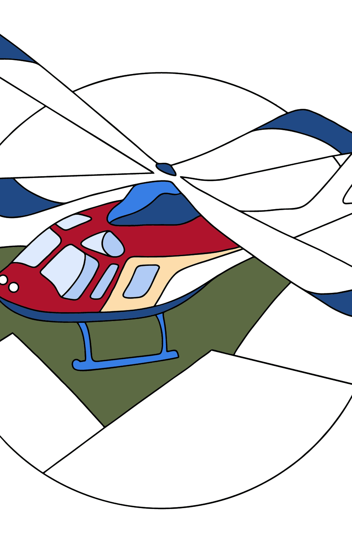 Coloring Page - A Sport Helicopter - Coloring Pages for Kids