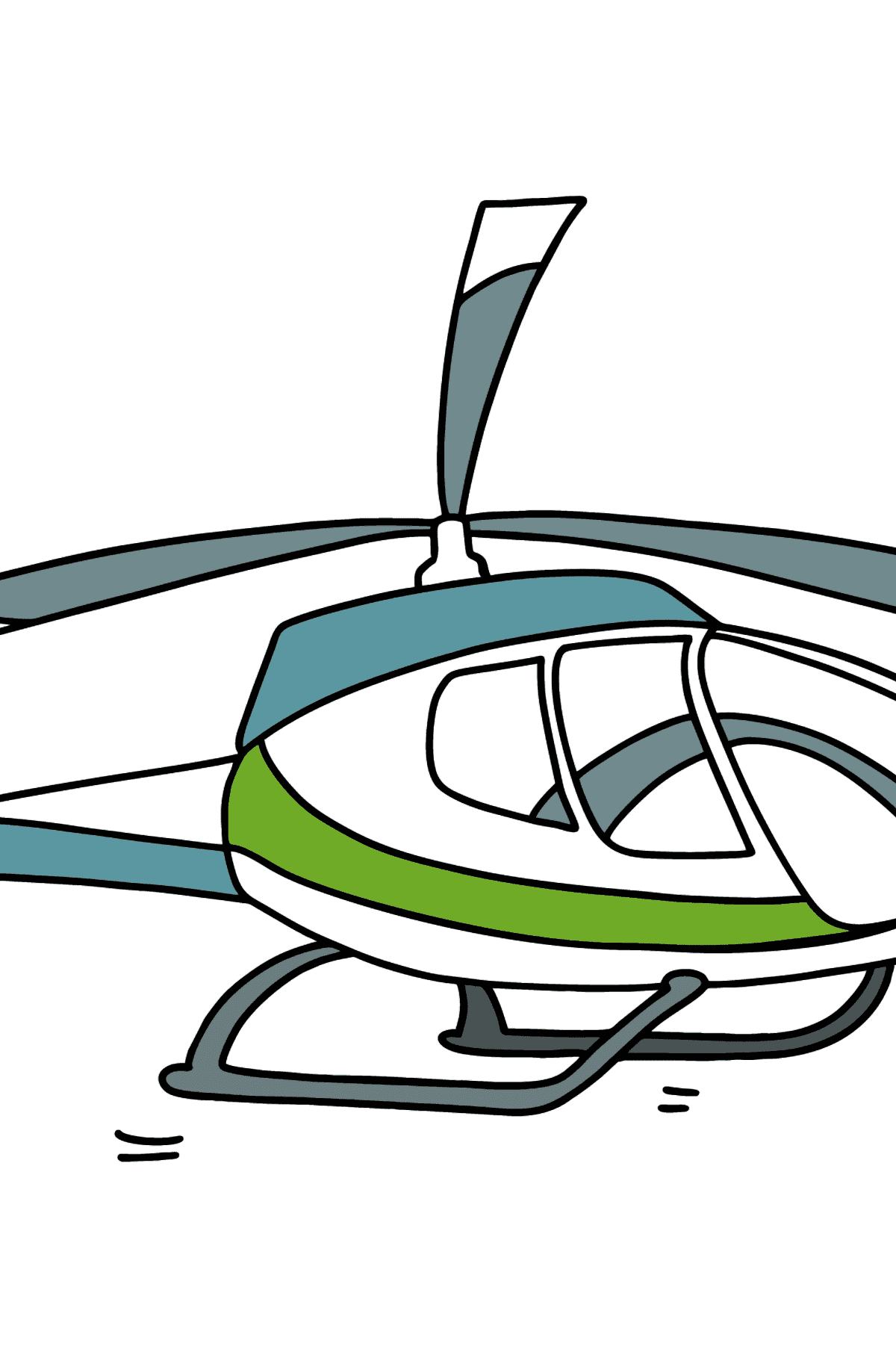 Beautiful Helicopter coloring page - Coloring Pages for Kids