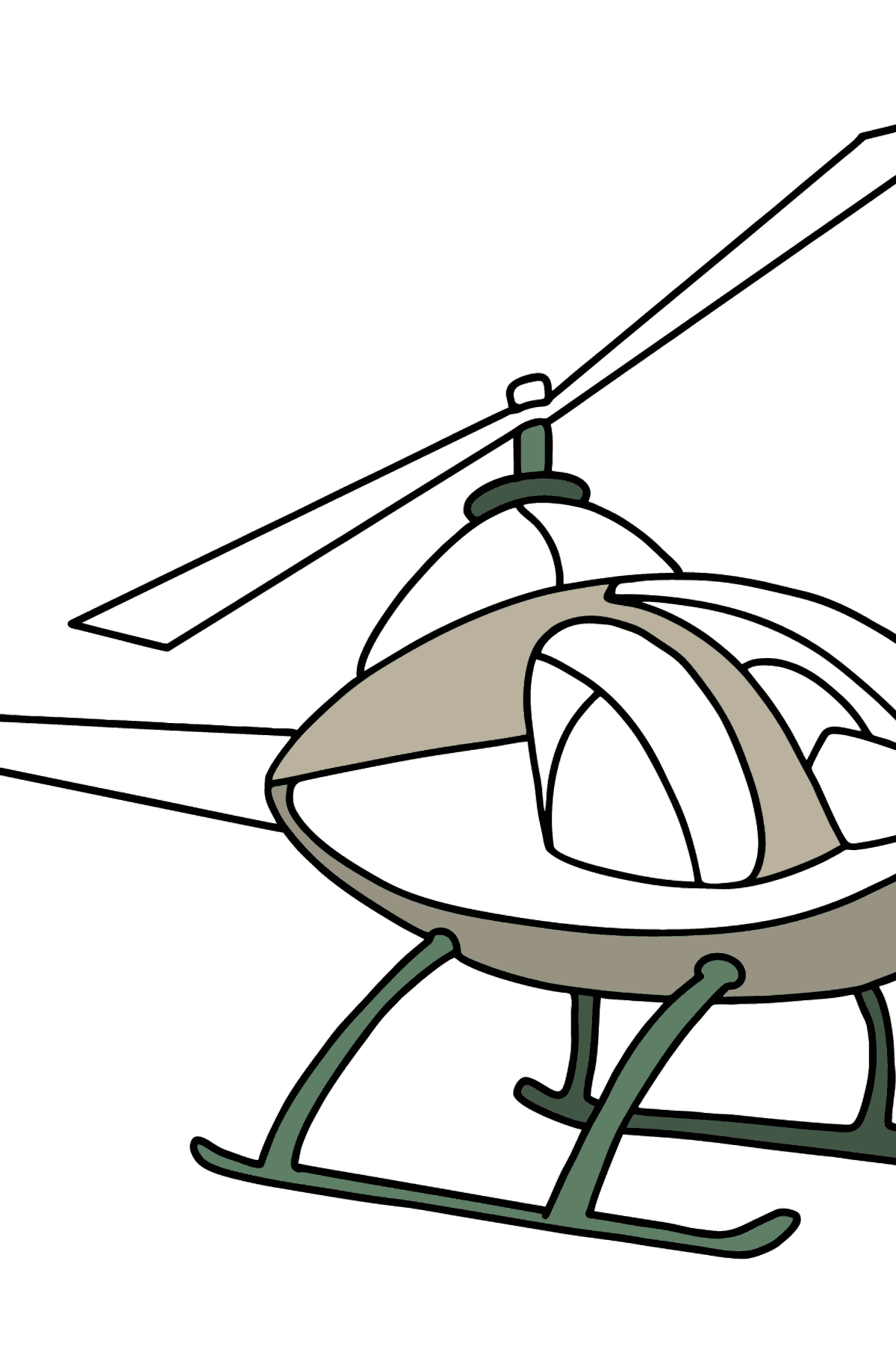Helicopter coloring page for kids - Coloring Pages for Kids