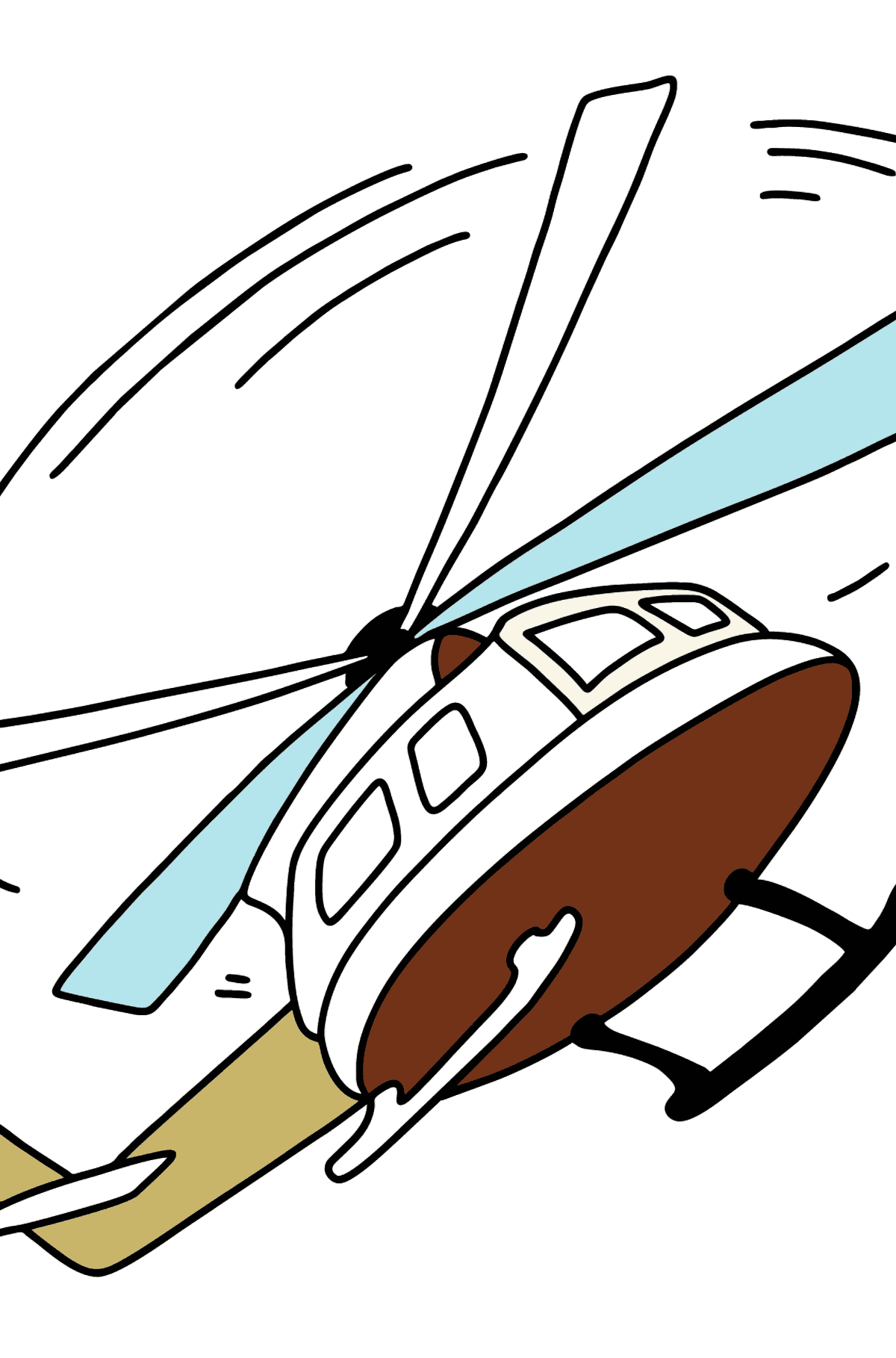 Helicopter coloring page online - Coloring Pages for Kids
