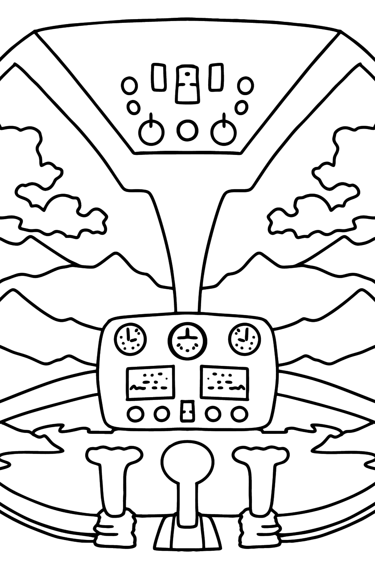 Helicopter Wheel coloring page - Coloring Pages for Kids