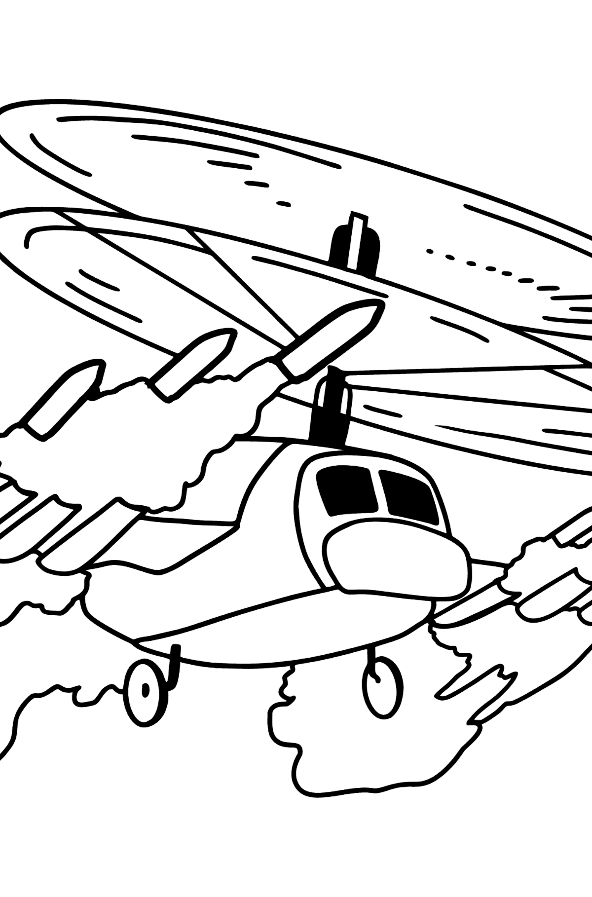 Coloring Page - A Military Helicopter - Coloring Pages for Kids