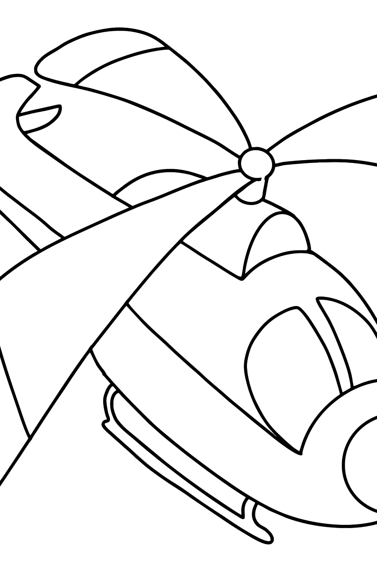 Little Helicopter coloring page - Coloring Pages for Kids