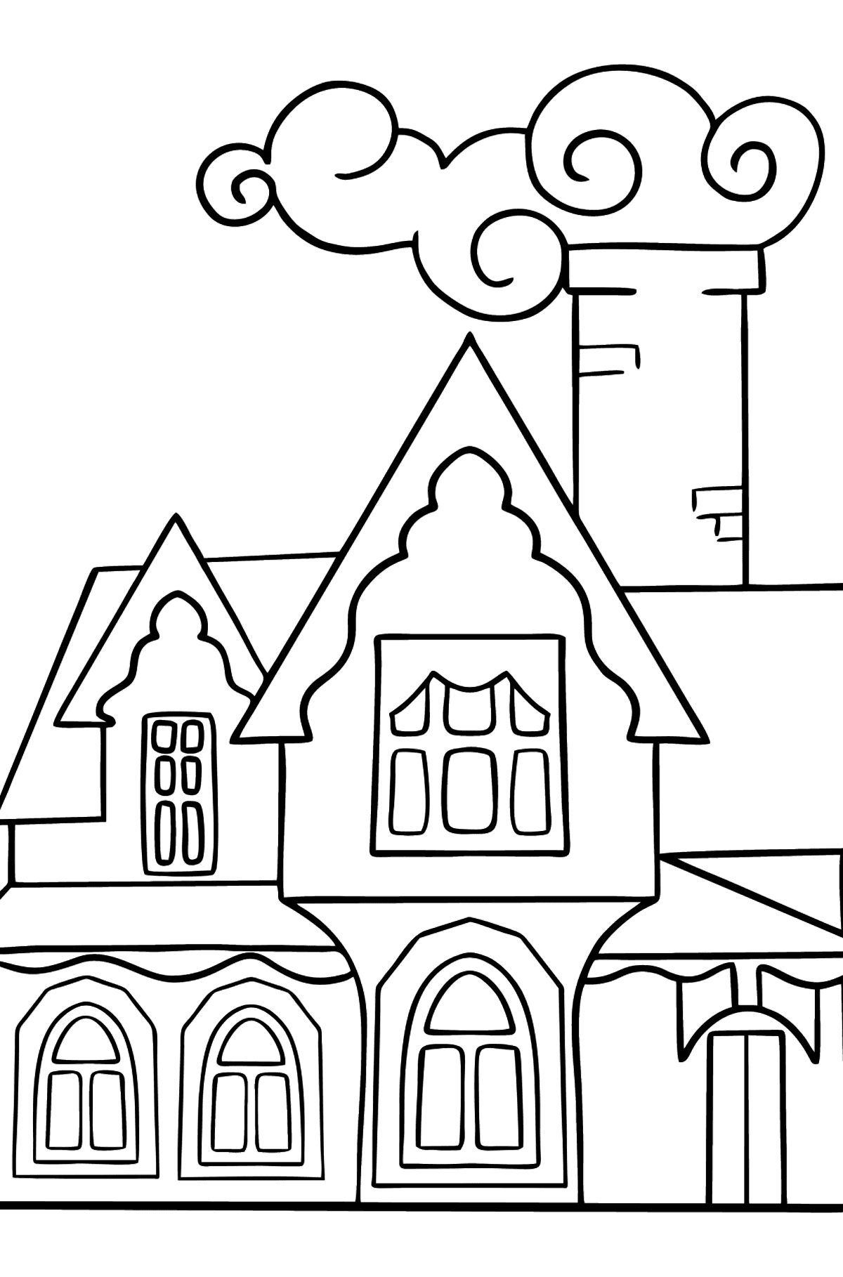 Coloring Page - A Miraculous House - Coloring Pages for Kids